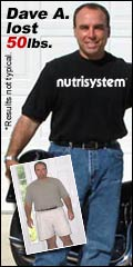 Dave lost 50lbs on NutriSystem mens weight loss