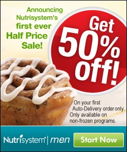 Announcing Nutrisystem's first ever Half Price Sale!