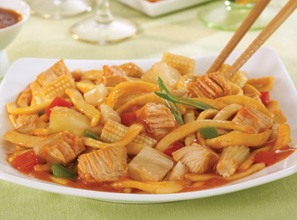 ... of Sweet and Sour Chicken With Noodles (Made with White Chicken