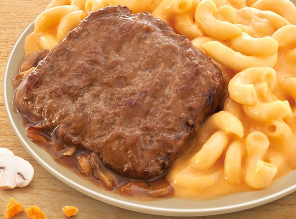 Salisbury Steak with Mac & Cheese